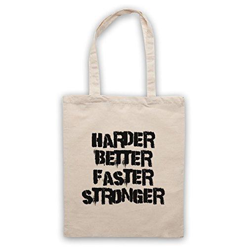 Inspiriert durch Daft Punk Harder Better Faster Stronger Inoffiziell Umhangetaschen Naturlich