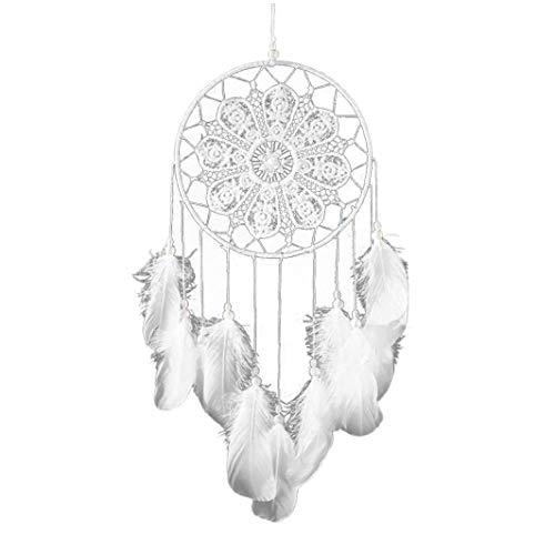 Aisoway Dreamcatcher Hecho A Mano Campanas De Viento Estilo Indio Colgando Colgante Ideal del Colector Principal Tapices Arte Decoración Blanca