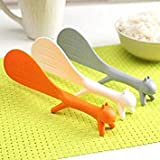Gray : Special Ladles Kitchen Tool Korean Cute Lovely Fashion Kitchen Supplie Squirrel Shaped Ladle Non Stick Rice Paddle Meal Spoon