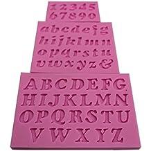 yeah67886 silicona Fondant Cake Molde Mini carta número molde para hornear decoración DIY herramienta ...