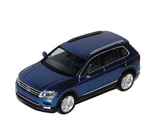 Preisvergleich Produktbild VW Volkswagen Tiguan II Pazifik Blau Grau 2. Generation Ab 2015 H0 1/87 Herpa Modell Auto