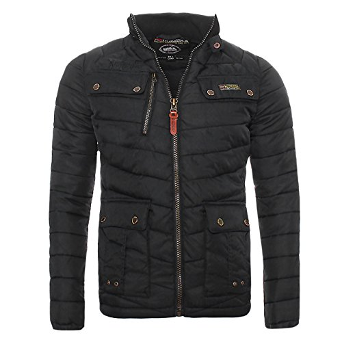Geographical Norway - Chaqueta para hombre, negro, X-Large
