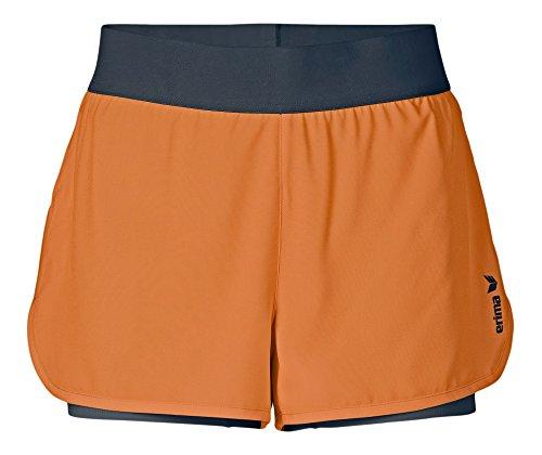 Erima Damen Green Concept 2 in 1 Shorts, Orange Pop/Silex, 38, 209503