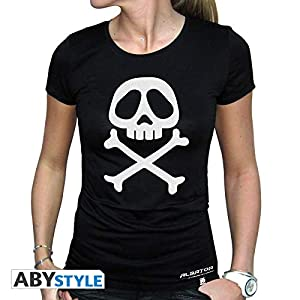 ABYstyle abystyleabytex229-x-large Abysse Capitán Harlock emblema de manga corta mujer camiseta básica (XL)