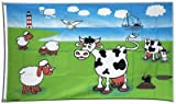 Flagge Schafe und Kühe - 90 x 150 cm