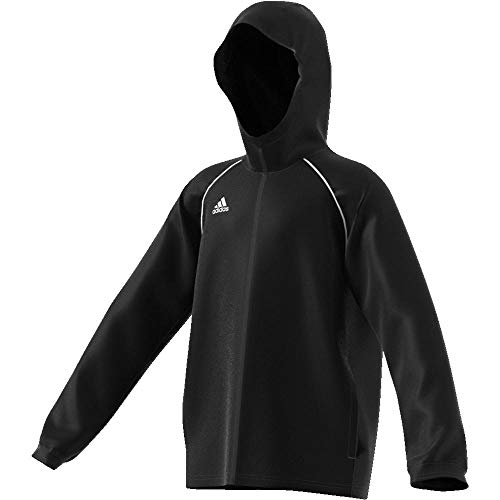 adidas Kinder Core18 RN Jkt Y Jacke, schwarz/weiß, 140 Schwarze Sport Jacke