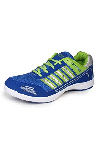 7. Columbus Men Blue Green Sports Shoes