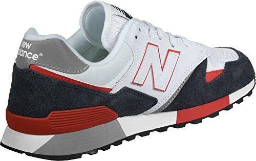 New Balance U446, Sneaker Uomo Blanc / Marine