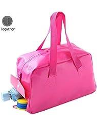 Togather® Impermeable ligero separación húmeda y seca EVA Organizador bolsa zapatillas trajes de baño almacenamiento bolso de natación para hombre y mujer (Rosa (mujeres))