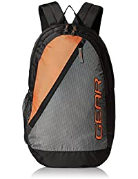 Gear 29 Ltrs Grey and Orange Casual Backpack (BKPCAMPS40406)