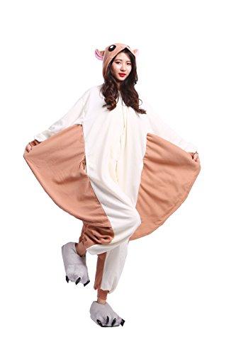 Imagen de yuwell unisex kigurumi pijamas adulto traje disfraz animal animal pyjamas, rata voladora m height 160 170cm