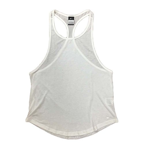 Nike Womens Dri-Fit Club Training Tank Top (White, Large/X-Large)