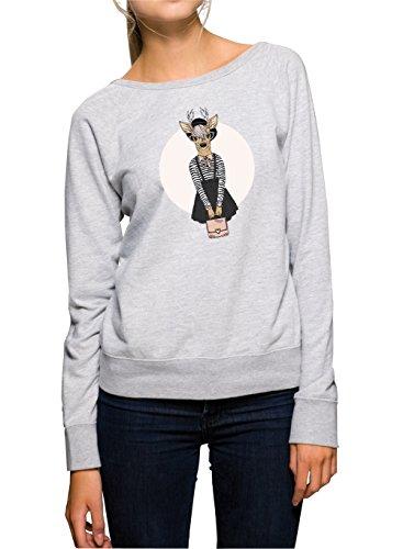 Fashion Deer Sweater Girls Grey Certified Freak-XL