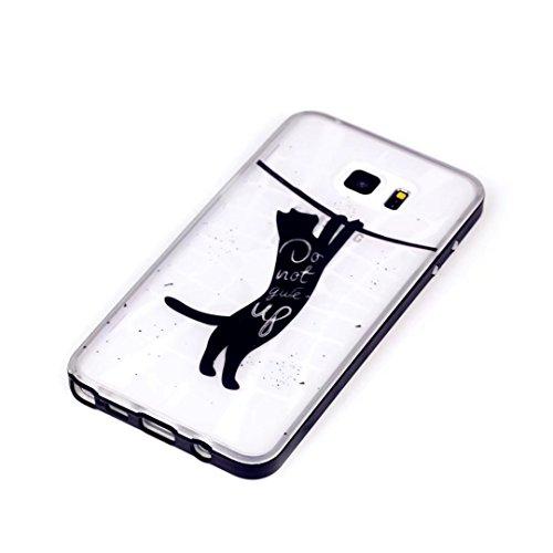JINCHANGWU Custodia per iPhone 5 5S 5G SE' Case Ultra Slim Protettivo Cover conchiglia Silicone TPU frame protettiva posteriore caso Shock Assorbimento Anti Scivolo--Don't give up strong cat Ah11