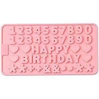 wonderfulwu - Molde de Silicona para Chocolate, diseño de Letras y números, Varios Patrones