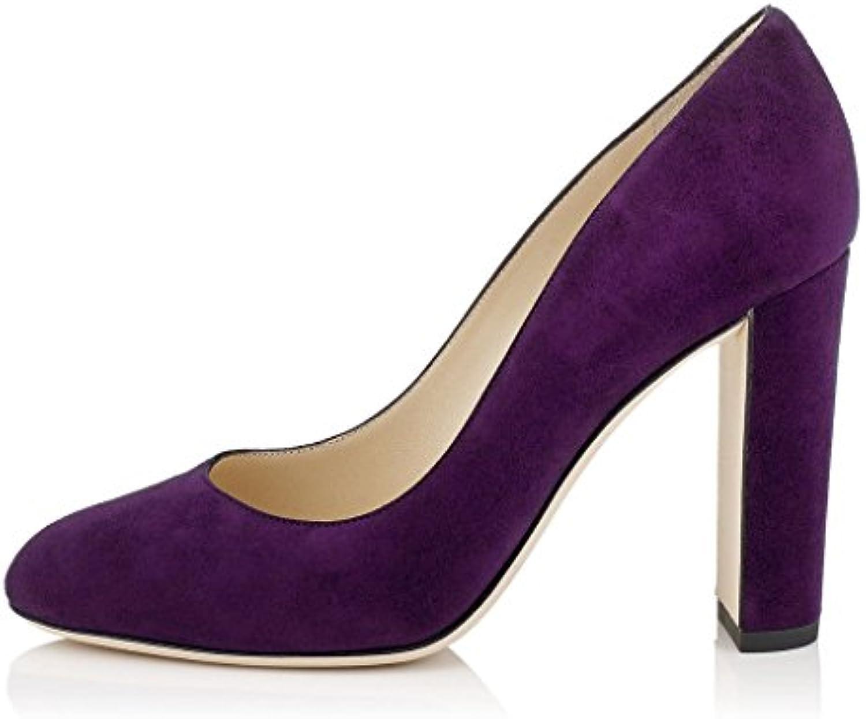 EDEFS Hauts - Chaussure Femmes Escarpin - Talon Hauts EDEFS Bloc - Bout Rond fermé - Soirée Mariage Grand FemmeB01NCBJT0KParent 80de7d