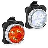 Fahrradlicht LED Set, USB Wiederaufladbar Wasserdicht Fahrradbeleuchtung,LED Frontlichter Frontlich und Rücklicht für Camping mit 4 Licht-Modi