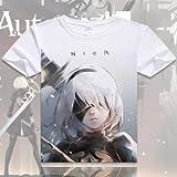 SUNKEE Neues Spiel NieR: Automata YoRHa No.2 Typ B / No. 9 Typ S Kurzärmlig T-Shirt ( Bitte beachten Sie die Größentabelle ) (S, 15)