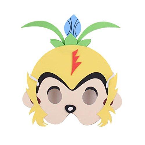 Monkey Kostüm King Cosplay - Panda Legends 10Packs Kids Performance Requisiten Tiermasken Monkey King Cosplay Kostüme
