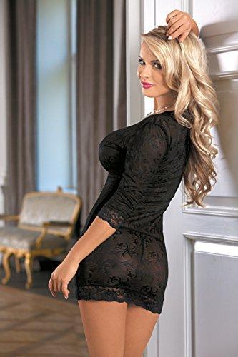 R-Dessous mini Kleid Clubwear Dress Club Party Minikleid schwarz transparent erotische Dessous