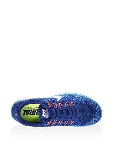 Nike Wmns Free RN Distance, Chaussures de Running Entrainement Femme Coastal Blue/Off Wht-Hrtg Cyn
