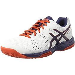 Asics Gel-Padel Pro 3 Sg, Zapatillas de Tenis Hombre, Varios Colores (White/Astral Aura/Cherry Tomato), 48 EU