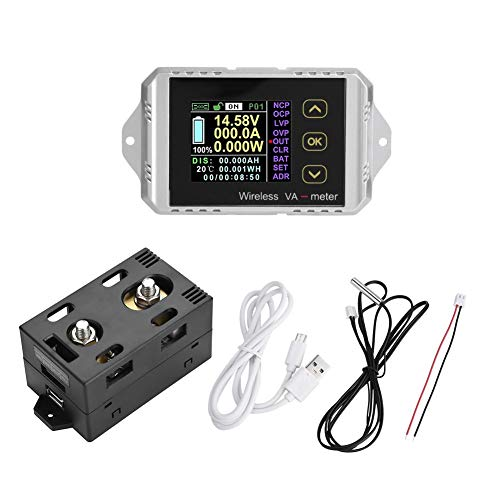 Wireless Voltmeter Farb-LCD-Bildschirm DC Voltage Amperemeter Power Meter Watt Tester(VAT-1200) 01 Multifunktions-farb-display
