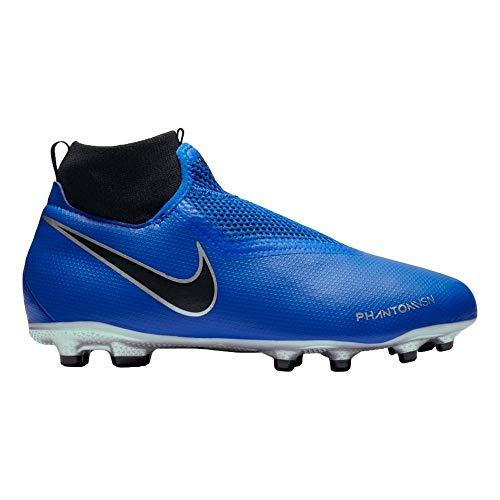 Nike jr obra 3 academy df mg, scarpe da calcio unisex-bambini, blu racer blue-black 400, 38.5 eu