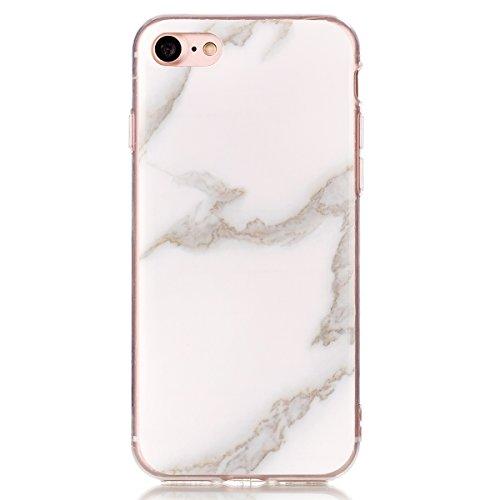 """iPhone 6sPlus Schutzhülle, Neue Marmor CLTPY iPhone 6Plus Schlank Hybrid Handytasche Leichtbau Gummi Abdeckung Luxus Bunt Motiv Back Cover für 5.5"""" Apple iPhone 6Plus/6sPlus (Nicht iPhone 6/6s) + 1 x  Milchig Weiß"""
