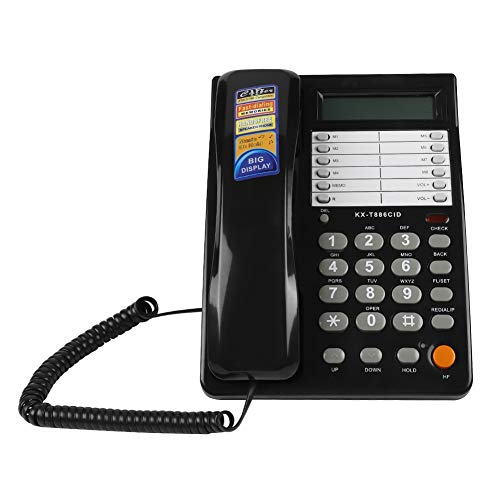 Kabelgebundenes Telefon zur Wandmontage, DTMF/FSK Dual Mode Klingeltöne, wählbar, kabelgebunden Festnetz für Büro, Hotel, Zuhause Telefon-klingelton