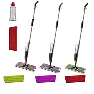 ARIANA Homeware® Water Spraying Spray Mop Includes 1 Microfibre Pad (Purple)