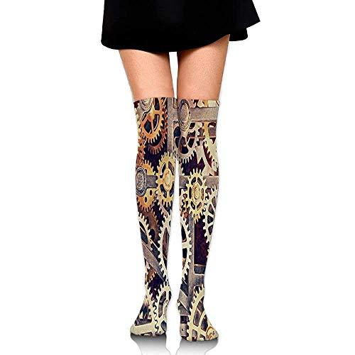 RGFJJE Hohe Socken Gear Socks Womens Crew Champion Athletic Dresses Thigh Over High Knee Long Stockings 65cm