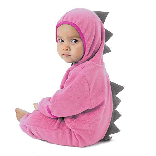 Funzies Fleece leichte Jacke - Winter Pyjama Oberbekleidung für Baby 18-24 monate Dino Pink/Grau (Erwachsene Fleece-schlafanzug)