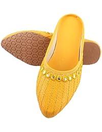 YB BAZAAR® Jaipuri Women's Traditional Slip-On Mojari Jutti