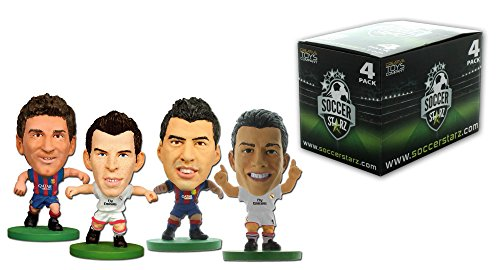 Price comparison product image SoccerStarz Blister Best Players in the World Pack Figurine (Pack of 4)