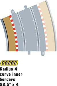Super Slot 500008282 - R4 22,5 grados 4X RANDSTR.INNEN, Rennbahnhzubehör Importado de Alemania