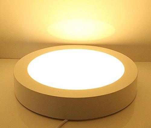 Foco para techo led -24W Plafón de techo redonda, 3000K,Blanco frío, No-Regulable,...