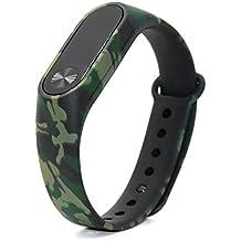 Reemplazo de banda de Xiaomi Smart Fitness Xiaomi 2 banda pulsera de portatil (Camo verde oscuro)