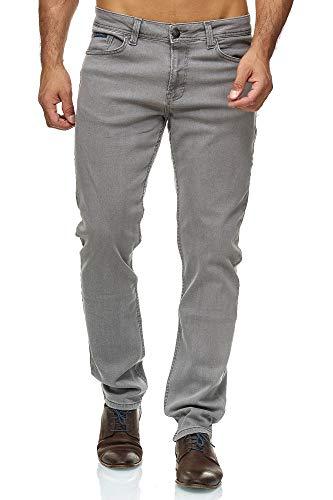 Barbons Herren Jeans - Bügelleicht - Slim-Fit Stretch - Business Freizeit - Hochwertige Jeans-Hose 06-hellgrau 34W / 34L Slim Fit Denim-hose