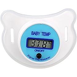 Rokoo Suave bebé niño pezón LCD boca digital chupete termómetro niños salud seguridad cuidado