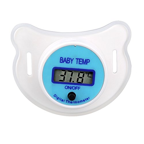 Henreal Soft Infant Baby Kind Nippel LCD Digital Mund Schnuller Thermometer Kinder Gesundheit Sicherheitspflege - Digitale Baby Schnuller-thermometer