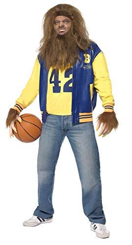 Preisvergleich Produktbild Smiffys 35047L - Teen Wolf Kostüm mit Jacken-Weste Handschuhe Perücke und Bart