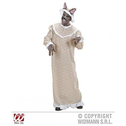 (Lively Moments Märchenkostüm Böser Wolf ( Wolf im Omakostüm ) Kostüm Gr. M = 50)