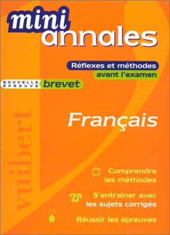 Mini-annales 2000 : Français, brevet