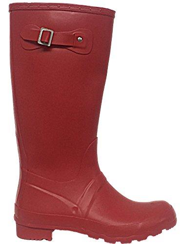 Foster Footwear Ladies Original Tall Wellington Boots Buckle Waterproof Snow Rain Festival Wellies Size 3-8