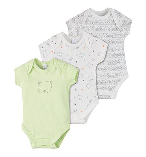 C&A Baby Bodies 3-er Pack aus Bio-Baumwolle Scribble-Design Größe 74