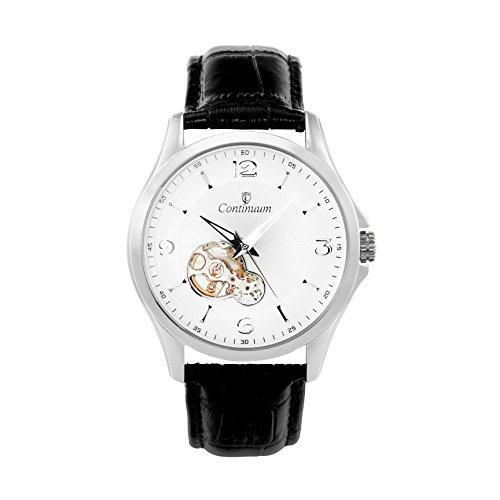 Continuum Herren-Armbanduhr Automatik Analog Leder Schwarz - C15H26