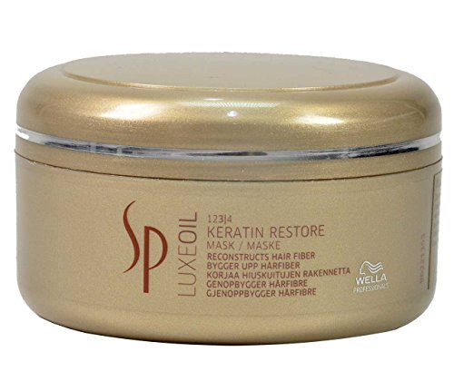 Wella SP System Professional Luxeoil Keratin Restore Mask, 1er Pack, (1x 150 ml)