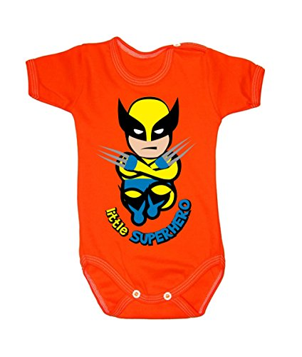Colour Fashion Baby Wolverine Bodysuits Shortsleeve 100% Cotton 0 - 24 months 0007 (3-6 months, 68 cm, Orange)