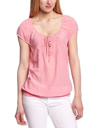 edc by ESPRIT Damen Bluse 043CC1F002, Gr. 34 (XS), Pink (670 flamingo)